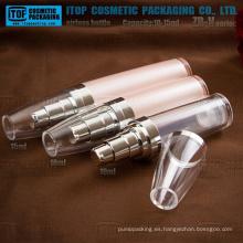 Bala de serie ZB V 10ml 15ml redondo apretado bomba plástico slim airless botella de acrílico