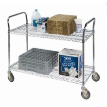 Chrome Metal Garbage Hand Push Trolley Cart (TR904590A2C)