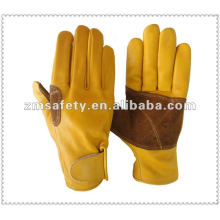 Golden cow grain leather impact gloves for heavy workJRM112