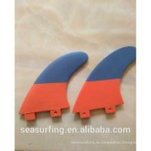 2015 Aletas de surf de plástico de alta calidad G5 aletas de surf hechas profesional surf surf