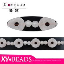 Gema blanco abalorios para piedras de la joyería de moda y abalorios