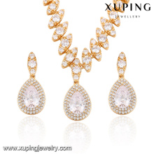 63858 Xuping fashion dubai gold bridal jewelry set