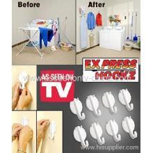 Express Hookz Set Of 18 Multi-purpose Drywall Hooks As Seen On Tv