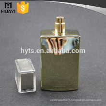 100ml gold UV coating perfume bottle with pump and cap