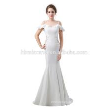 2017 neue Mode Ballkleid Braut Brautkleid auf Lager Stock Länge geschnürt Modell lange Spitze Abendkleid