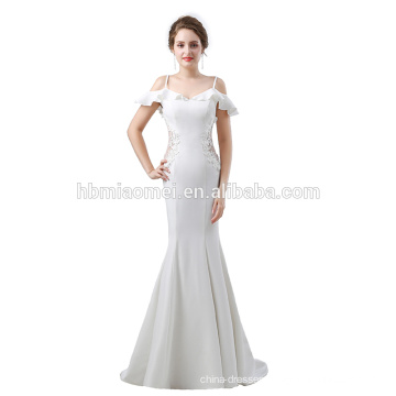 2017 new fashion ball gown bride wedding dress in stock floor length laced model long lace evening dress