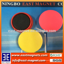 D40mm plastic ferrite magnet pot for sale/colourful magnet pot ningbo factory