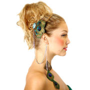 Feather Hair Ornaments Set, Decorated with Rhinestones, Customized Designs AcceptedNew