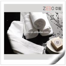 Início venda de toalhas brancas de algodão de alta qualidade por atacado conjuntos de banho do hotel
