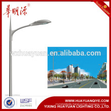 round galvanized steel street lighting pole with single arm or double arm
