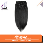 Alibaba Express 6A 7A 8A Grade Double Drawn Remy Human Hair Clip in Hair Extensions