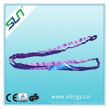 Facteur de sécurité 1tx1m 5: 1 100% Polyester Sling Round Sling