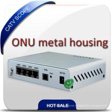 Unidad de red óptica de la cubierta del metal de CATV Gepon ONU Olt