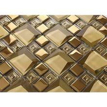 Golden mirror color mosaic