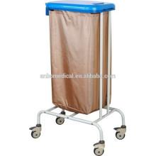 Carretilla soilded revestida de polvo de epoxy para sostener el bolso para la colección y el transporte