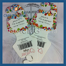 Carte à collier pour collier d'emballage