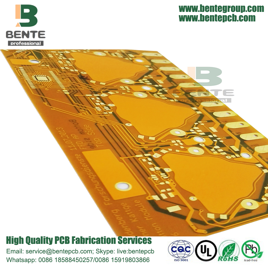 "Placa de ouro 30U ""1OZ 2 Camadas Placa flexível BentePCB"