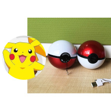 Cute Pikachu Pokemon Poke Ball Banco de energía Magic Ball Mobile Phone cargador USB
