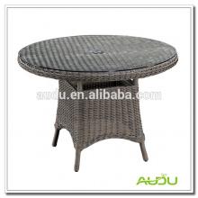 Mesa de jantar de lazer, estilo de lazer Rattan Round Garden Dining Table