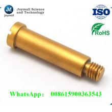 Vis en fonte d'aluminium avec couleur dorée