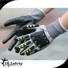 SRSAFETY 13g anti impact gloves/shockproof mechanic gloves/safety gloves