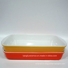 Low Cost Color Glazed Ceramic Bakeware