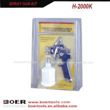 Мини hvlp спрей пистолет комплект двойная упаковка волдыря Х2000