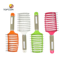 Custom logo curved salon hair color dryer brush