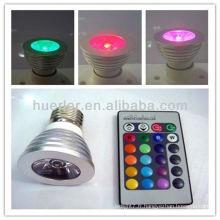 Haute qualité avec la puce EC Epistar RoHS E27 G10 rgb 3w lampe à distance