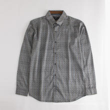 Camisa de algodón estampada de manga corta para hombre de alta calidad