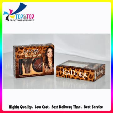 Pacote de papel de presente de luxo caixa de embalagem de cosméticos