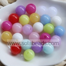 Winter 8mm Plastic Ball Smooth Imitation Swarovski Beads