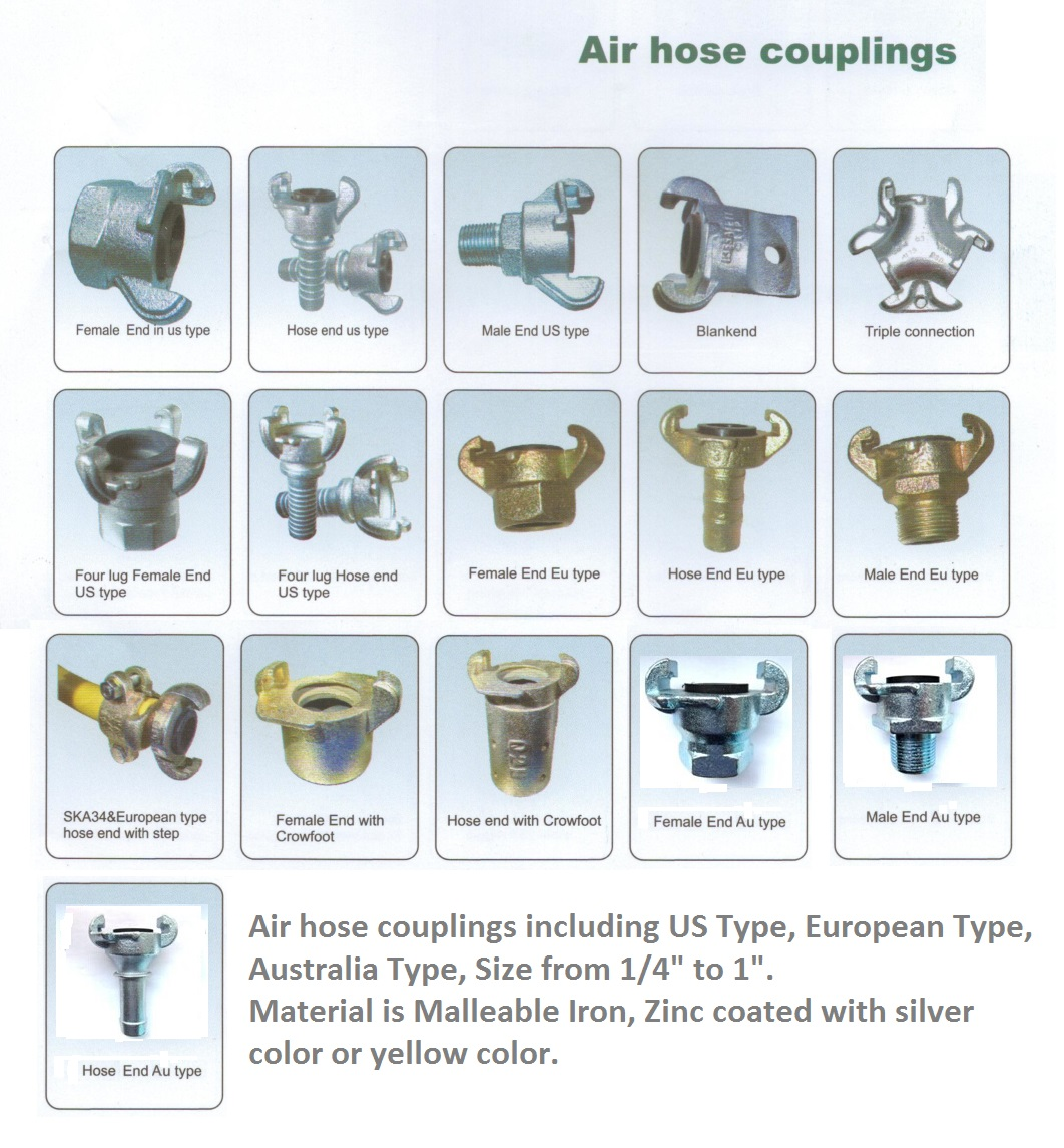 Air hose coplings