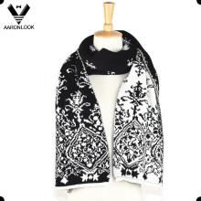 Модный зимний жаккардовый двухсторонний шарф