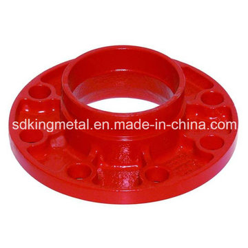Ductile Iron 300psi Grooved Threaded Adator Flange