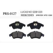 Semi-metallic PRS-0127 auto brake pads for MERCEDES