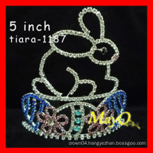 Beauty colored rhinestone pageant crown,sizes available