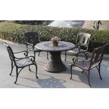 Jantar de alumínio fundido conjunto mobília do pátio do jardim ao ar livre de Metal