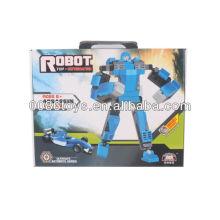 Blaue und schwarze pädagogische Bausteine Roboter