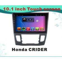 Система Android GPS-навигация Автомобильный DVD-плеер для Honda Crider 10.1-дюймовый емкостный экран с MP3 / MP4 / TV / WiFi / Bluetooth / USB