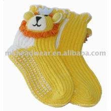 Calcetines hechos punto lindos del deslizador de los cabritos hechos en nanjing