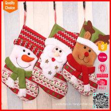 Caliente vendiendo calcetines lindos personalizados de Navidad de dibujos animados