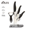 Zircoina Ceramic Paring Knife+Utility Knife+Cleaver Knife+Peeler Kitchen Knife Set