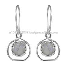 2017 Dernières boucles d'oreilles en argent sterling Rainbow Gemstone Silver Earrings en ligne