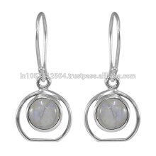 2017 Latest Online Wholesale Rainbow Gemstone Silver Jewelry Earring