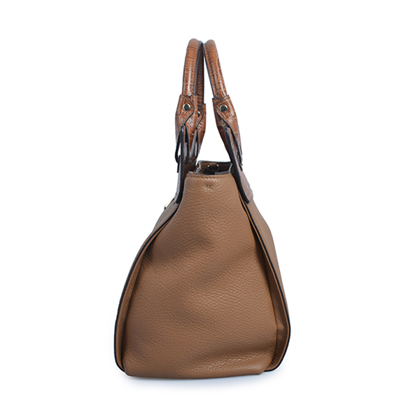Elegant genuine leather tote business handbag