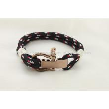Einfache und beliebteste Armband Verstellbare Edelstahl U Schäkel Handmade Armreif