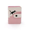 Porta-cartões PU de mosaico bonito para gatos