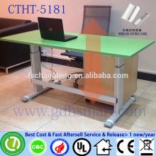 altura ajustable de la altura de la pierna de los muebles del metal mesa ajustable de la ruleta del escritorio del ordenador portátil