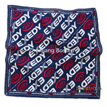 OEM Produce Customized Logo Design impresso promocionais Cotton Headband Scarf